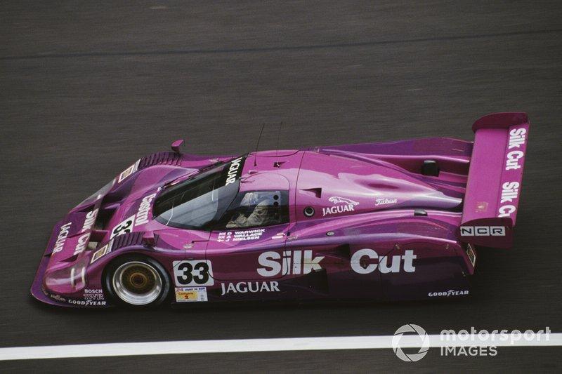 Derek Warwick, John Nielsen, Andy Wallace, Silk Cut Jaguar, Jaguar XJR-12 LM