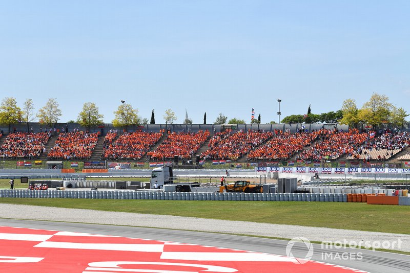 Dutch fans of Max Verstappen, Red Bull Racing, fill grandstands
