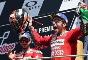 Podium: race winner Danilo Petrucci, Ducati Team