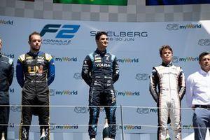 Sergio Sette Camara, Dams Luca Ghiotto, UNI Virtuosi Racing et Nyck De Vries, ART Grand Prix