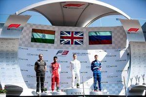 Jake Hughes, HWA RACELAB Jehan Daruvala, PREMA Racing and Robert Shwartzman, PREMA Racing