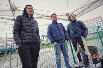 Члени команди SDrive - механік Директор - Андрій Бондар і пілот - Владислав Сінані