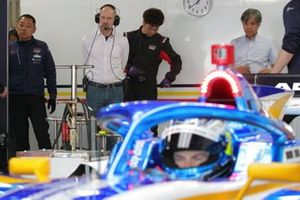 Adrian Newey y su hijo, Harrison(B-Max Racing with motopark)