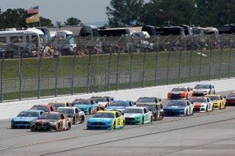 Kyle Busch, Joe Gibbs Racing, Toyota Camry M&M's Chocolate Bar Ryan Blaney, Team Penske, Ford Mustang Menards/Knauf