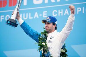 Antonio Felix da Costa, BMW I Andretti Motorsports fête sa victoire sur le podium