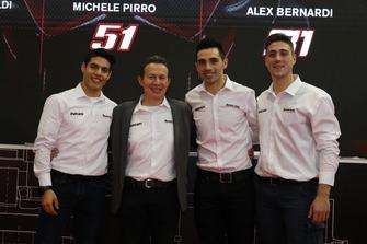 Michael Ruben Rinaldi, Marco Barnabò, Team Principal Barni Racing Team, Michele Pirro e Alex Bernardi