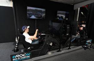 Memo Rojas practices on an eROC Simulator