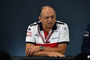 Frederic Vasseur, Sauber, Team Principal, en conférence de presse