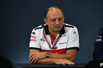 Frederic Vasseur, Sauber, director del equipo en la rueda de prensa