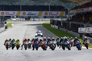 Start zum Moto2-Rennen in Sepang 2018