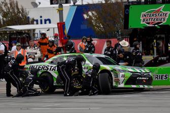 Brandon Jones, Joe Gibbs Racing, Toyota Camry Interstate Batteries, makes a pit stop