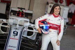 Tatiana Calderon, pilote d'essais de Sauber