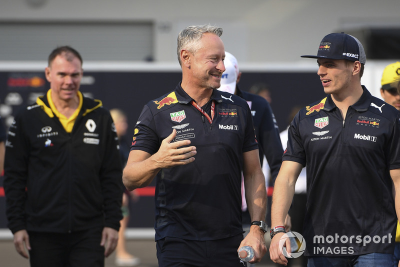 (L to R): Jonathan Wheatley, Red Bull Racing Team Manager and Max Verstappen, Red Bull Racing