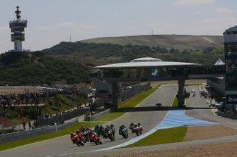 Nicky Hayden et Dani Pedrosa, Repsol Honda team, mènent au départ