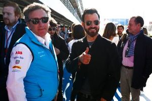 American Actor Justin Theroux visits the pit lane