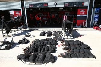 Les couvertures chauffantes des pneus de Ducati en train de sécher