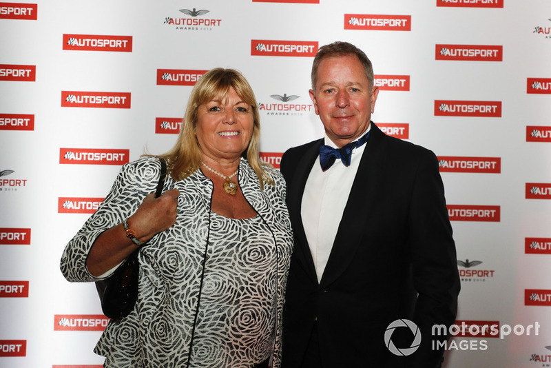 Martin Brundle with his wife, Liz