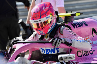 Esteban Ocon, Racing Point Force India F1 Team in parc ferme