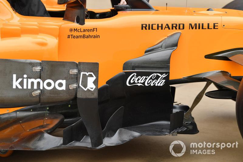 McLaren MCL33 bargeboards