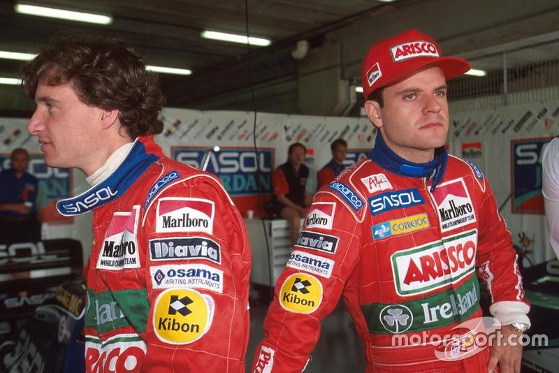 Eddie Irvine e Rubens Barrichello