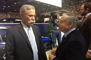 Chase Carey, CEO de la Fórmula 1 , Jean Todt, presidente de la FIA
