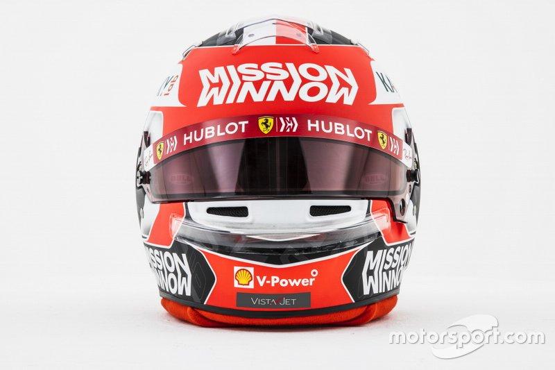 Le casque de Charles Leclerc, Ferrari