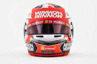El casco de Charles Leclerc, Ferrari