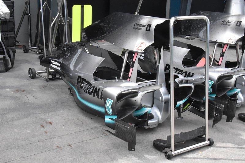 Detalle del Mercedes AMG F1 W10