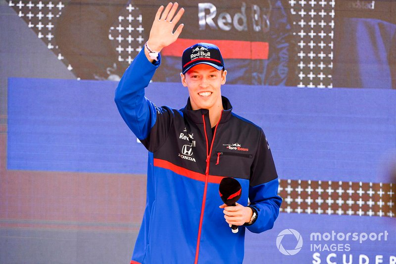 Daniil Kvyat, Toro Rosso at the Federation Square event