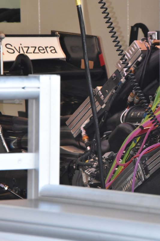 Detalle trasero del Sauber C38