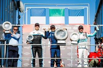 Podium: Race winner Gabriele Tarquini, BRC Hyundai N Squadra Corse Hyundai i30 N TCR, second place Jean-Karl Vernay, Leopard Racing Team Audi Sport Audi RS 3 LMS, third place Yann Ehrlacher, Cyan Performance Lynk & Co 03 TCR