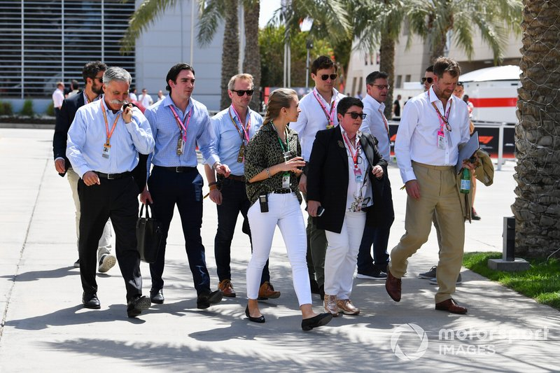 Chase Carey, Chairman, Formula 1, with VIP guests