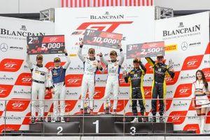 Race 1 podium overall celebrations
