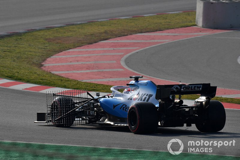 Robert Kubica, Williams FW42, con sensori aerodinamici