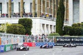 Sébastien Buemi, Nissan e.dams, Nissan IMO1, Robin Frijns, Envision Virgin Racing, Audi e-tron FE05, Oliver Rowland, Nissan e.Dams, Nissan IMO1