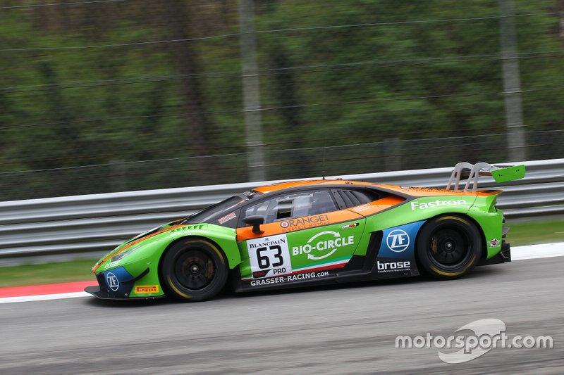 #63 GRT Grasser Racing Team Lamborghini Huracan GT3 Evo: Mirko Bortolotti, Rolf Ineichen, Christian Engelhart