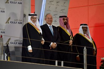 Члены королевской семьи Бахрейна на подиуме