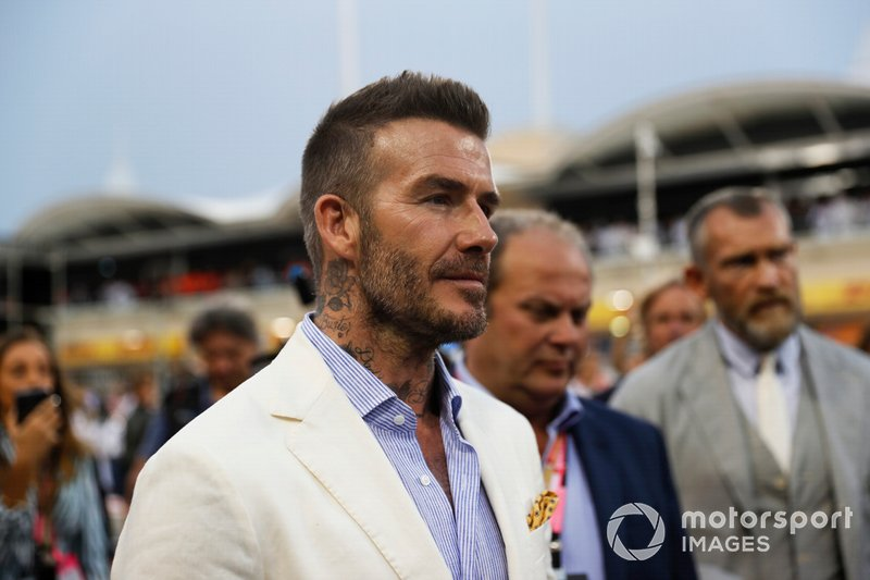 David Beckham on the grid