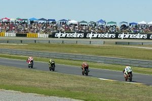 Roberto Locatelli, Andrea Dovizioso, Casey Stoner and Angel Nieto
