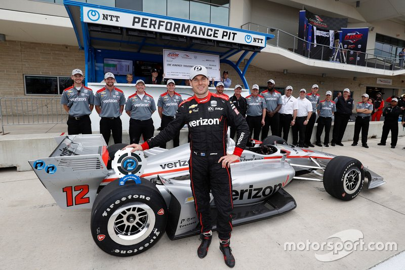Ganador de la pole Will Power, Team Penske Chevrolet