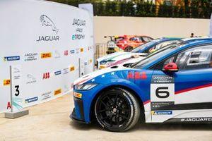 Bryan Sellers, Rahal Letterman Lanigan Racing, arrives in Parc Ferme alongside Simon Evans, Team Asia New Zealand, race-winner Cacá Bueno, Jaguar Brazil Racing
