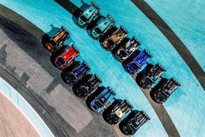 Lamborghini Super Trofeo cars line up