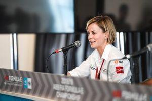 Susie Wolff, Team Principal, Venturi Formula E in the press conference