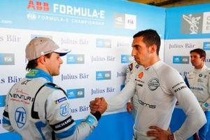 Felipe Massa, Venturi Formula E and Sébastien Buemi, Nissan e.Dams shake hands