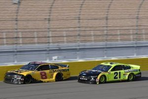 Tyler Reddick, Richard Childress Racing, Chevrolet Camaro Cat Mining, Matt DiBenedetto, Wood Brothers Racing, Ford Mustang Menards/Duracell