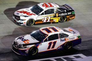 Denny Hamlin, Joe Gibbs Racing, Toyota Camry FedEx Freight, Cole Custer, Stewart-Haas Racing, Ford Mustang HaasTooling.com/Autodesk