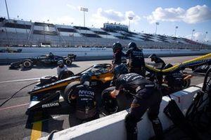 Patricio O'Ward, Arrow McLaren SP ChevroletJosef Newgarden, Team Penske Chevrolet, podium