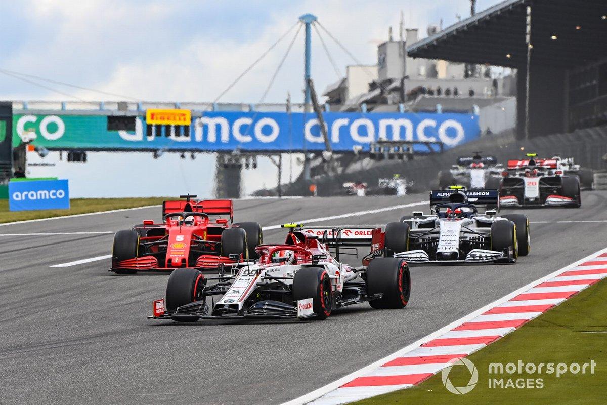 Antonio Giovinazzi, Alfa Romeo Racing C39, Sebastian Vettel, Ferrari SF1000, Pierre Gasly, AlphaTauri AT01, Kevin Magnussen, Haas VF-20