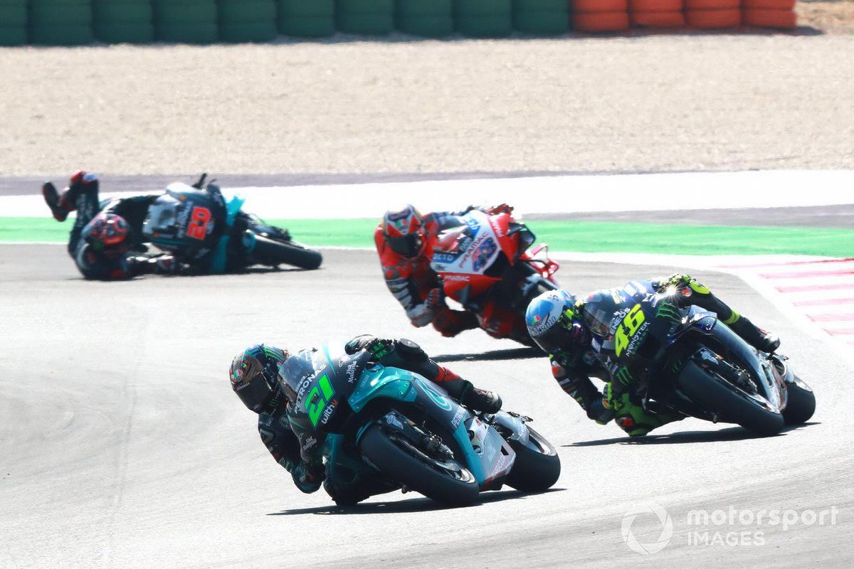 Fabio Quartararo, Petronas Yamaha SRT crashes