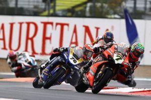 Chaz Davies, ARUBA.IT Racing Ducati, Loris Baz, Ten Kate Racing Yamaha